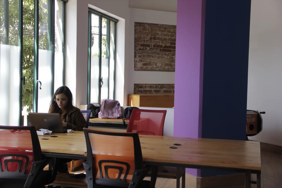 Los usuarios encuentran sitios ideales para trabajar en un ambiente agradable. (Foto: Fredy Hernández/Soy502)