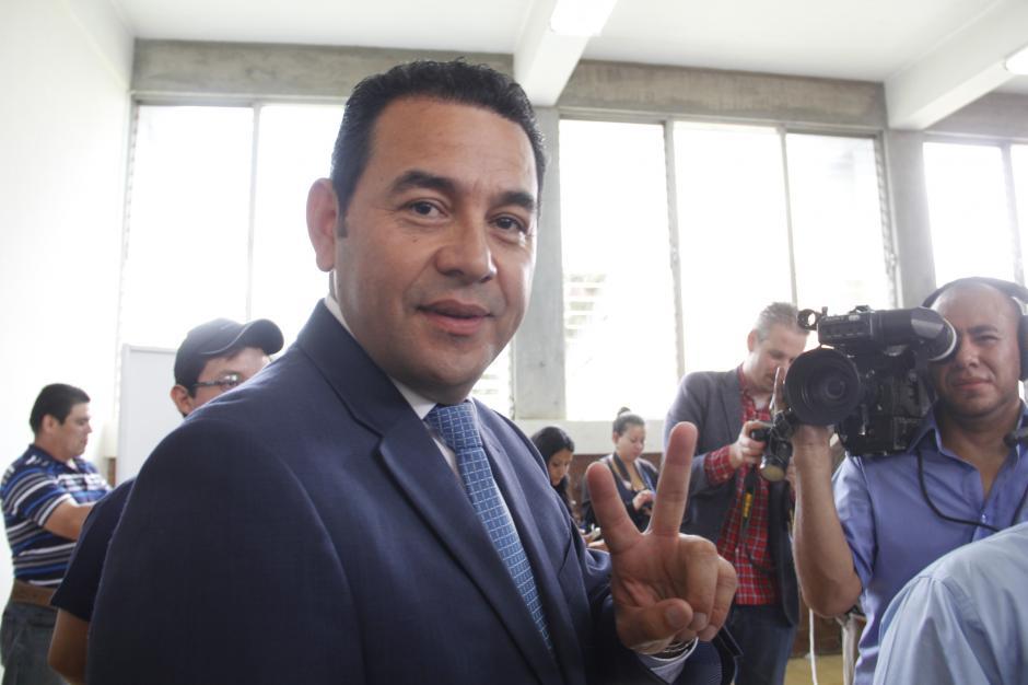 Morales dijo que se siente nervioso por los resultados que se puedan dar al final del día.(Foto: Fredy Hernández/Soy502)