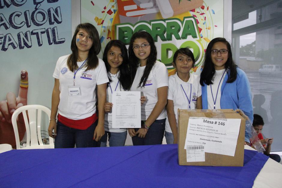 El cierre oficial de las elecciones infantiles se realizó en el Banco Promérica de la zona 10. (Foto: Fredy Hernández/Soy502)