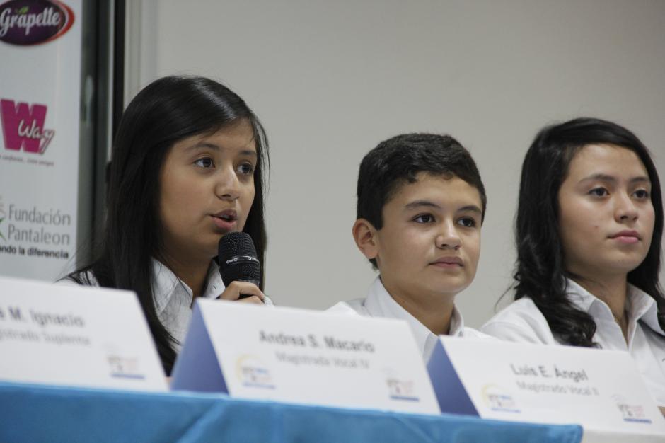 La magistrada presidente, Sara Galicia, dijo que la decisión del voto infantil no coincidió con la opinión de sus padres. (Foto: Fredy Hernández/Soy502)