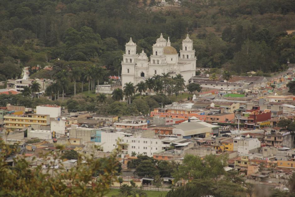 Desde ese punto, se divisa la basílica de Esquipulas. (Foto: Fredy Hernández/Soy502)