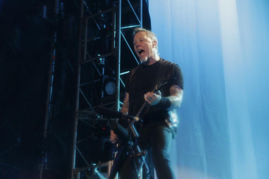James Hetfield contagió de energía a la concurrencia. (Foto: Fredy Hernández/Soy502)