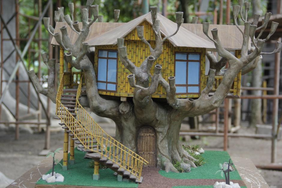 Así es el modelo de las casas en el árbol que aún siguen en construcción. (Foto: Fredy Hernández/Soy502)