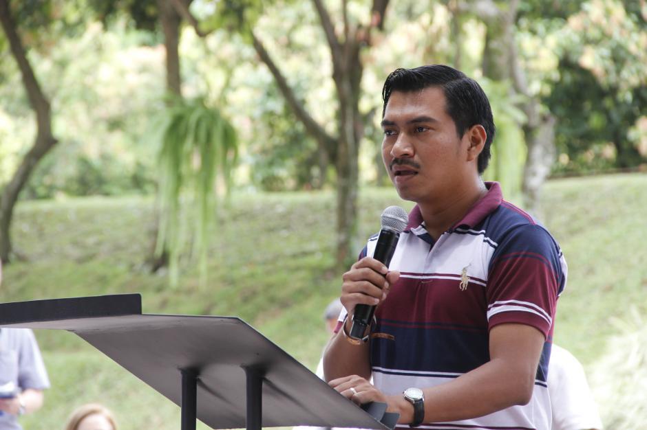 José Miguel Us, usuario frecuente de Xetutul, agradeció la construcción de los parques de diversiones en Retalhuleu, que ha sido de beneficio para la población de este lugar. (Foto: Fredy Hernández/Soy502)