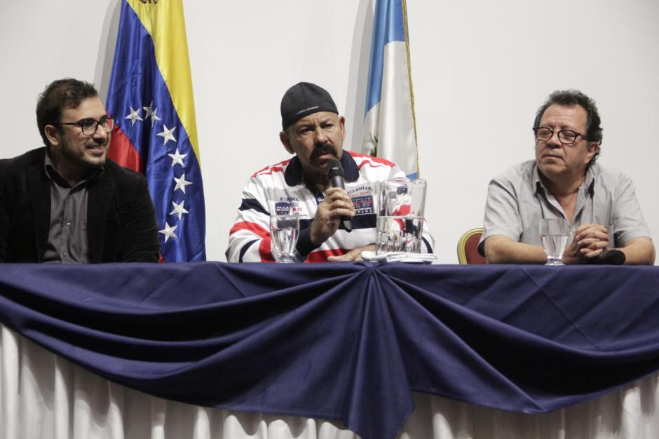 """Francisco Páez, Oscar D'León y Rodolfo Castillo son los responsables del proyecto """"Preciosa"""". (Foto: Fredy Hernández/Soy502)"""