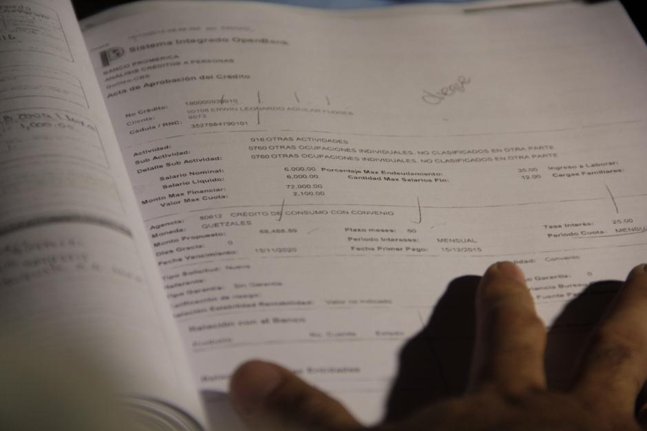 Los implicados utilizaban documentos falsificados para que se aprobaran los préstamos. (Foto: Fredy Hernández/Soy502)