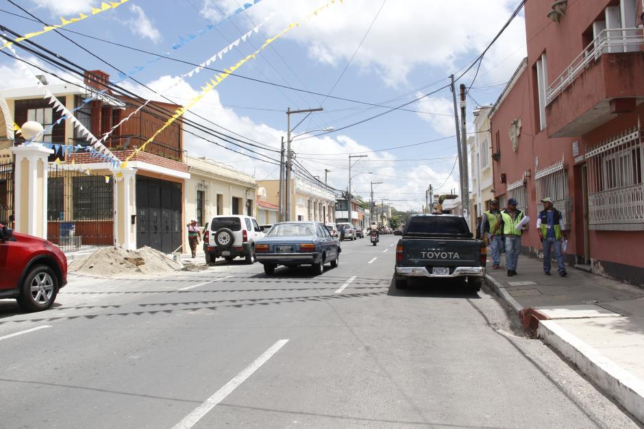 La séptima avenida de la zona 2, frente a la iglesia de la Asunción, tendrá un espacio para otros vendedores.(Foto: Fredy Hernández/Soy502)