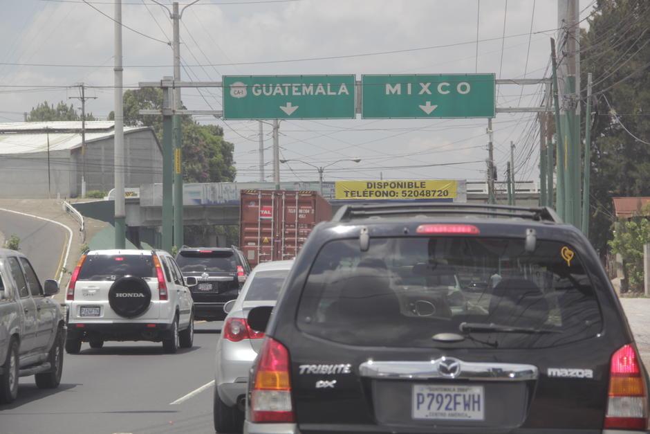 Mixco es uno de los municipios con mayor cantidad de vehículos que circulan por sus arterias. (Foto: Fredy Hernández/Soy502)