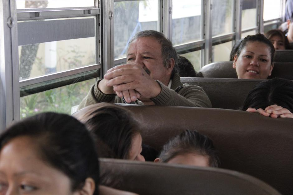 Las personas se trasladaron en cuatro autobuses en un recorrido que duró seis horas aproximadamente.(Foto: Fredy Hernández/Soy502)