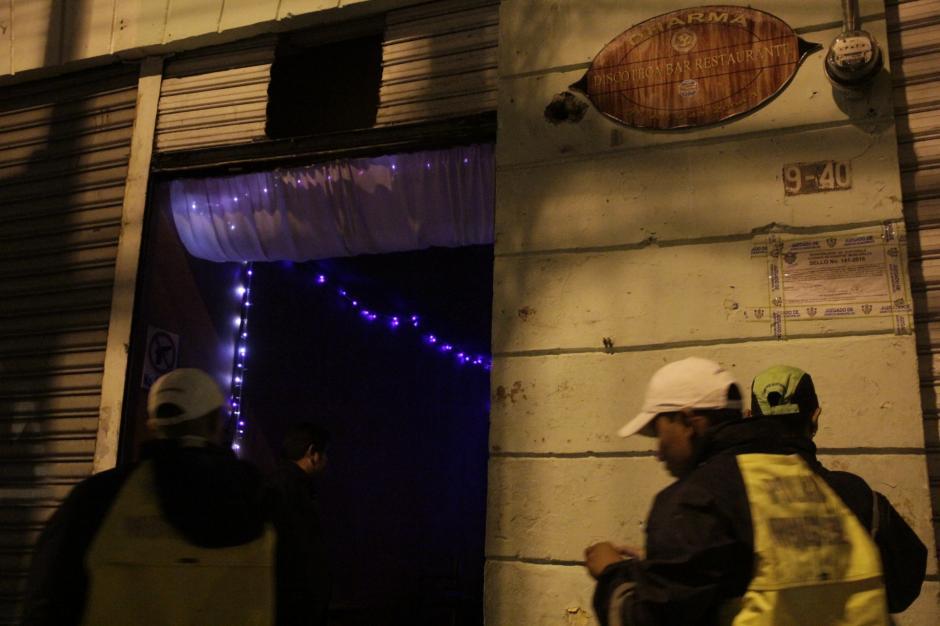 Este bar fue cerrado en el operativo de la semana anterior. Sin embargo, fue descubierto nuevamente en operaciones. (Foto: Fredy Hernández/Soy502)