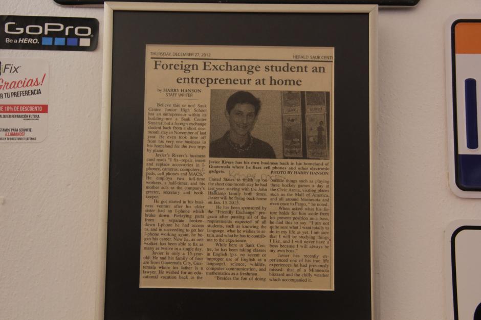 Durante un viaje de intercambio a Estados Unidos, un periódico local lo entrevistó y contó su iniciativa.(Foto: Fredy Hernández/Soy502)