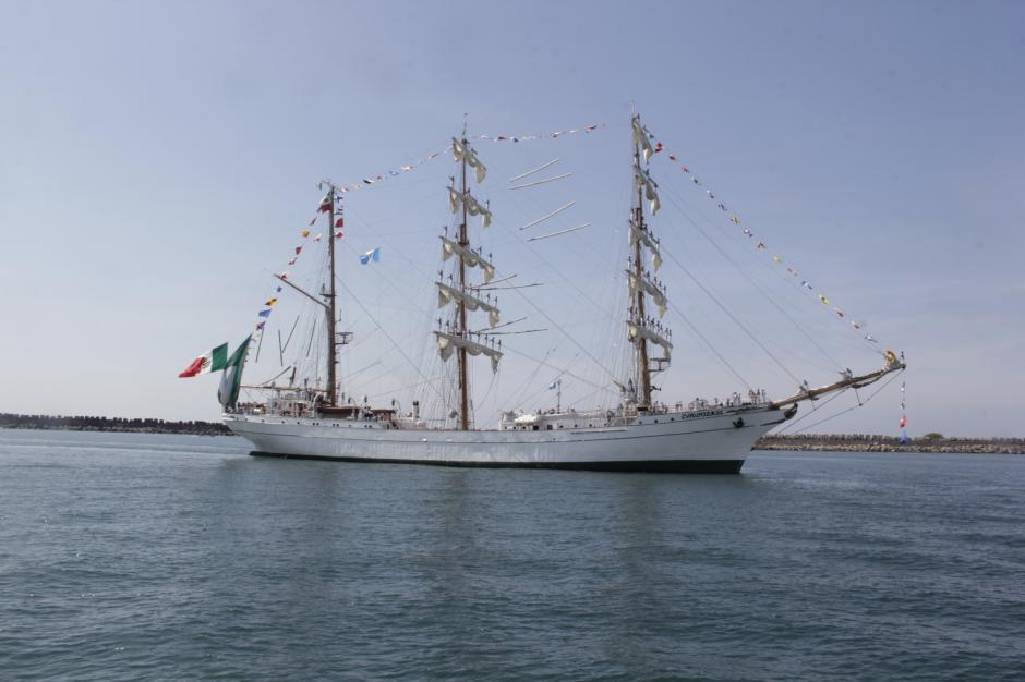 La embarcación mexicana llegó a Guatemala antes de retornar finalmente a México. (Foto: Fredy Hernández/Soy502)
