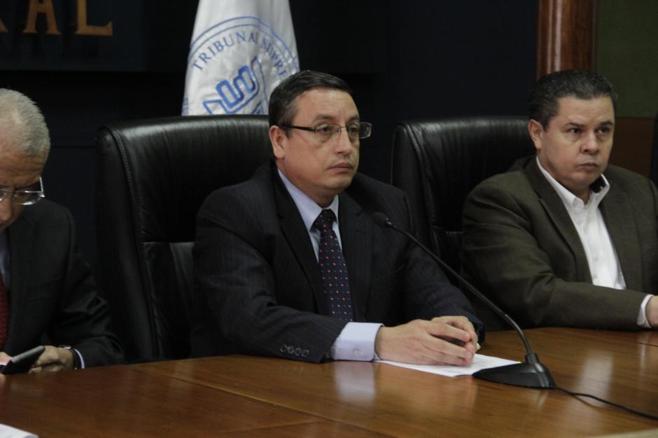 Rudy Marlon Pineda, presidente del TSE, ofreció datos oficiales de la segunda vuelta electoral. (Foto: Fredy Hernández/Soy502)