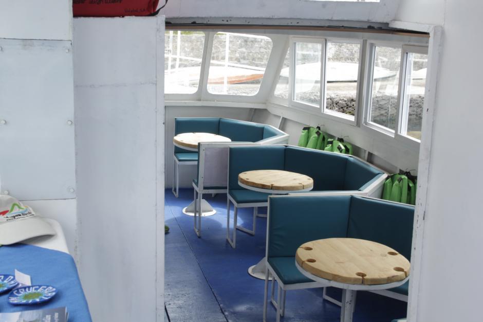 La capacidad de la embarcación es de unas 40 personas aproximadamente. (Foto: Fredy Hernández/Soy502)