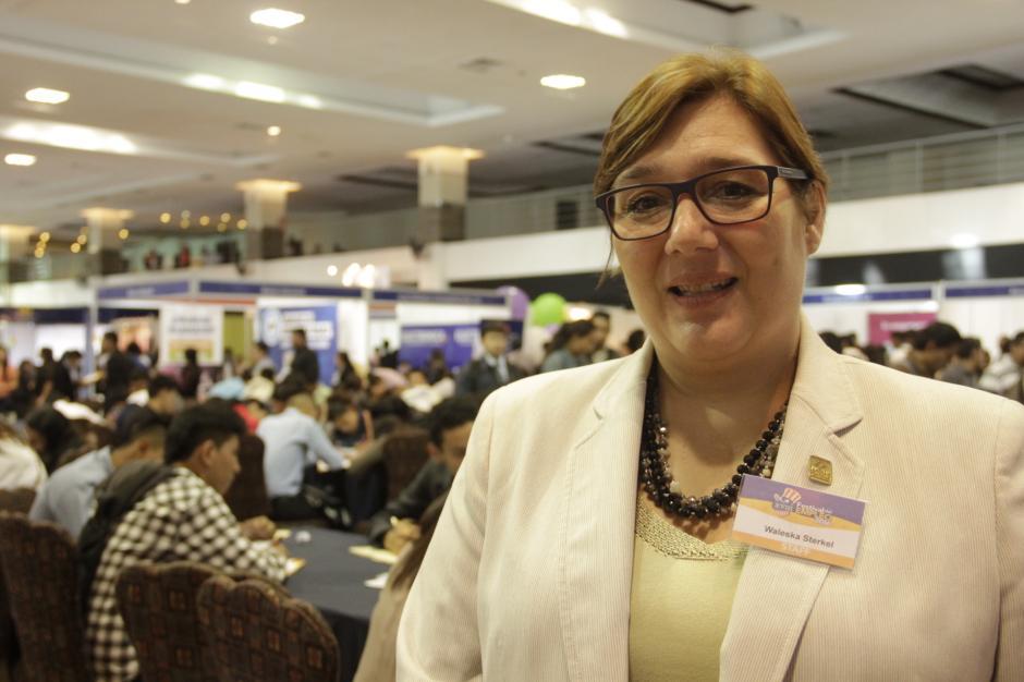 Waleska Sterkel, directora ejecutiva de Amcham resalta que hay mucha necesidad entre los jóvenes de un empleo. (Foto: Fredy Hernández/Soy502)