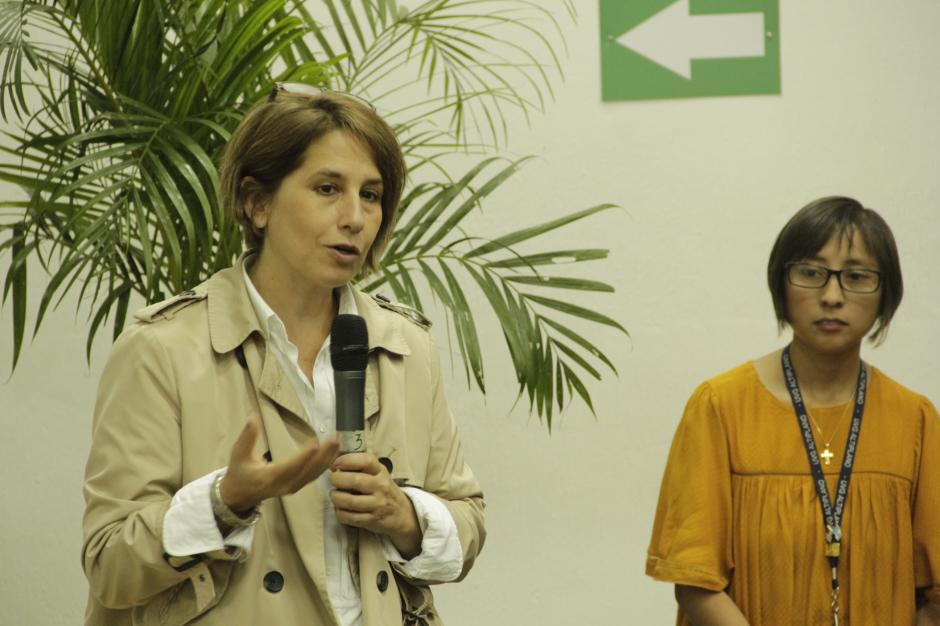 María Pacheco agradeció el apoyo hacia las productoras que viven en Patulul. (Foto: Fredy Hernández/Soy502)