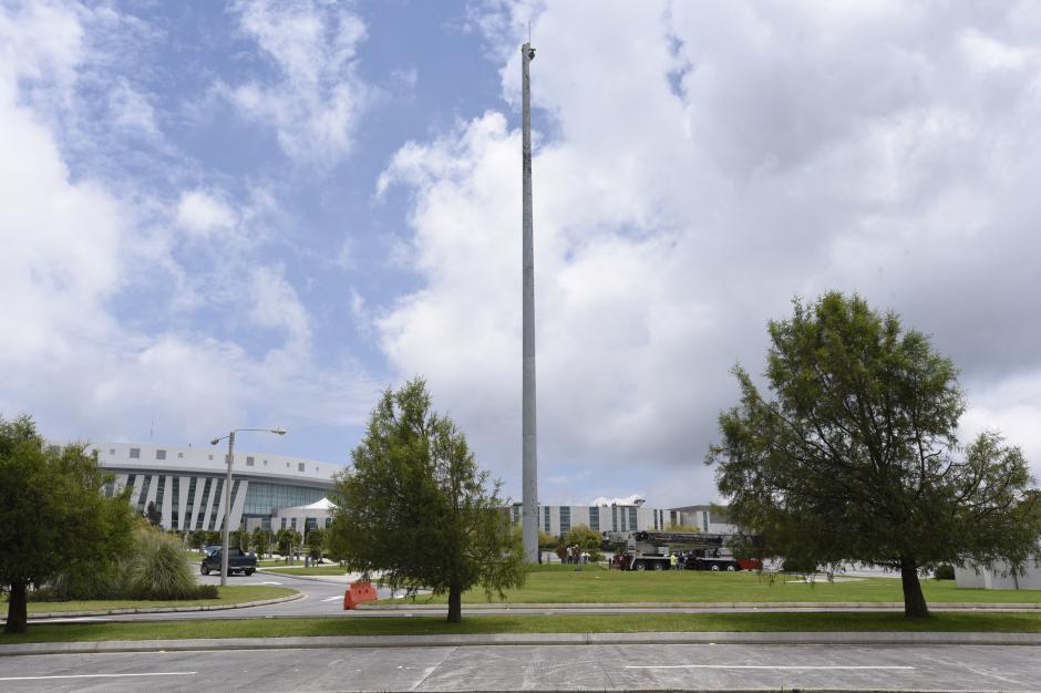 La bandera fue donada por la exvicepresidenta Roxana Baldetti. (Foto: Erick Sor/Nuestro Diario)