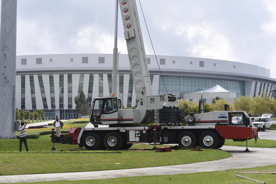 La revelación acerca de la donación causó que las autoridades de la iglesia Casa de Dios decidieran retirar el pabellón de la plaza principal. (Foto: Archivo/Soy502)