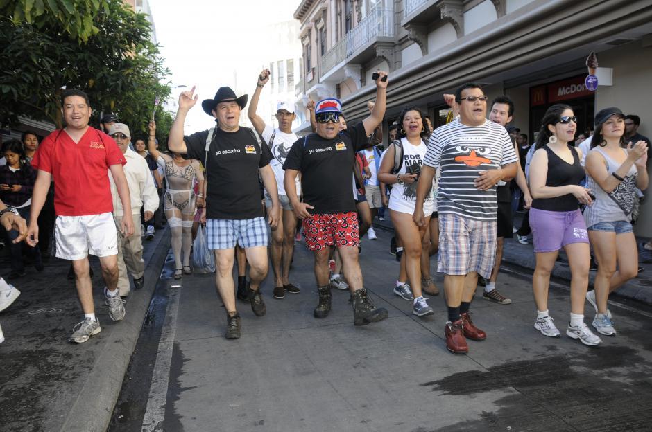 La marcha fue organizada por los locutores de una emisora de radio (Foto: Nuestro Diario/Wilver Martínez)