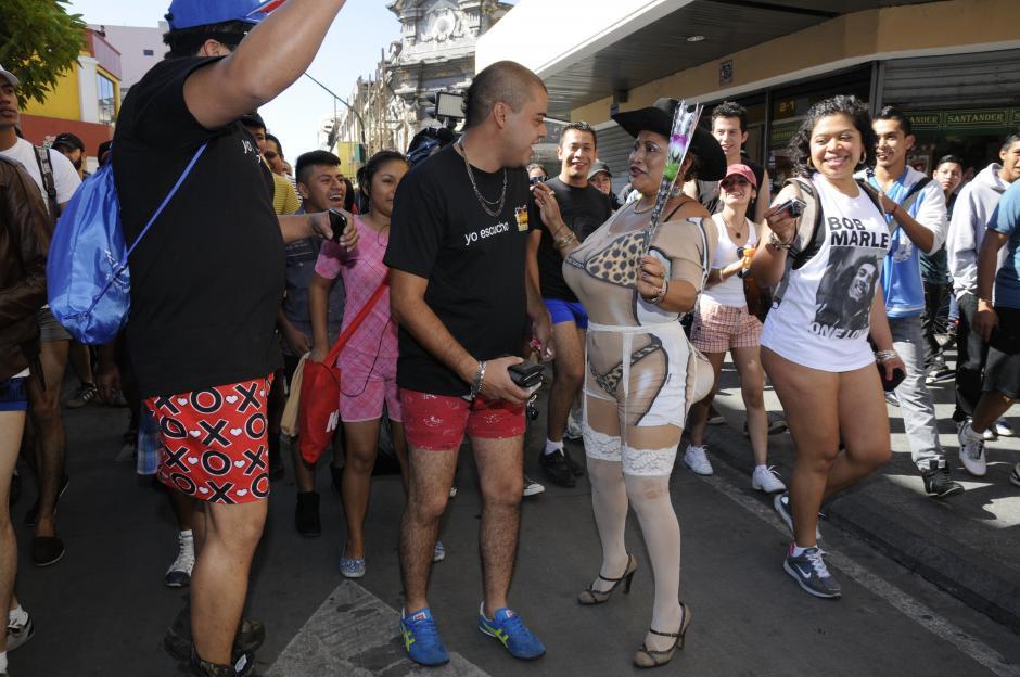 En la marcha destacó la participación de algunas atrevidas mujeres. (Foto: Nuestro Diario/Wilver Martínez)