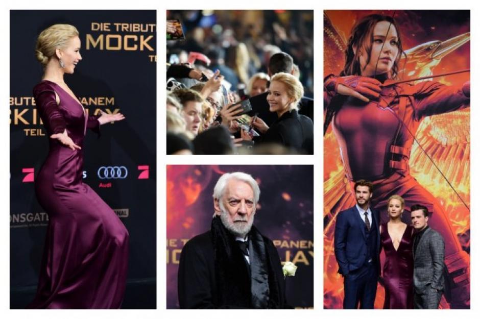 """La última entrega de """"Los Juegos del Hambre"""" se estrenó este miércoles en Berlín en presencia de sus protagonistas, encabezados por Jennifer Lawrence, la actriz mejor pagada del mundo. (Fotos: EFE)"""