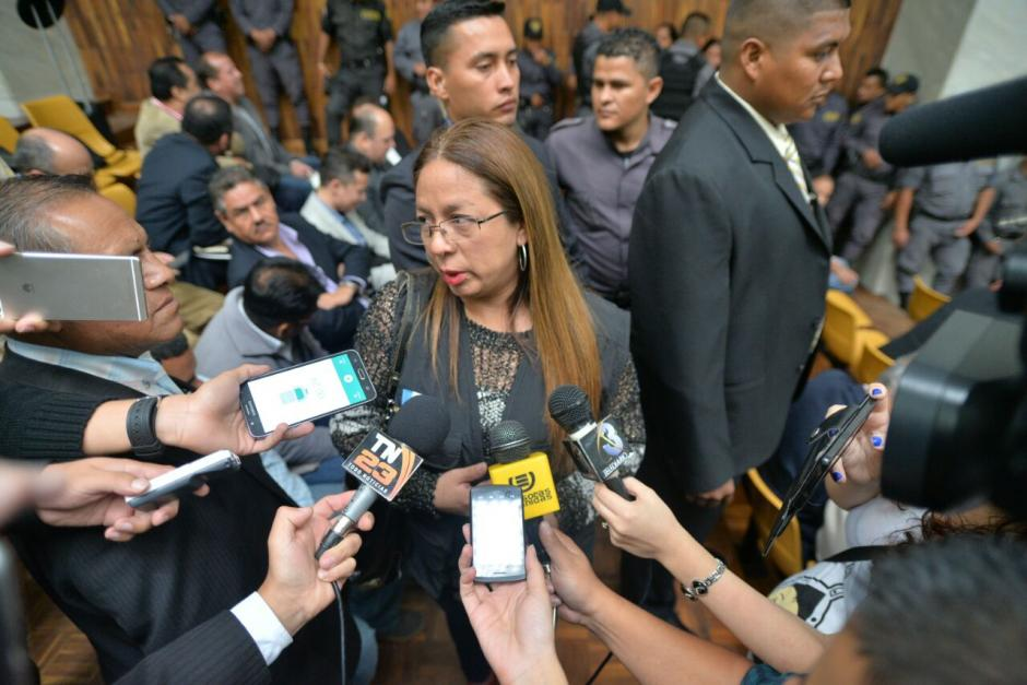 La subdirectora asistió a la audiencia para verificar las condiciones de los guardias del Sistema Penitenciario. (Foto: Wilder López/Soy502)