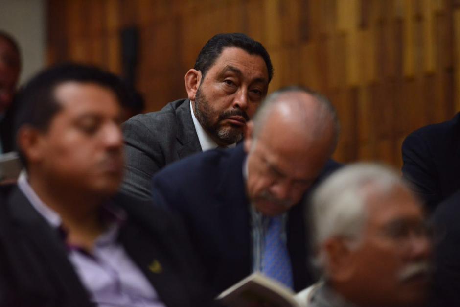 El exministro de Gobernación Mauricio López Bonilla durante el quinto día de audiencia de primera declaración por el caso Cooptación del Estado. (Foto: Jesús Alfonso/Soy502)