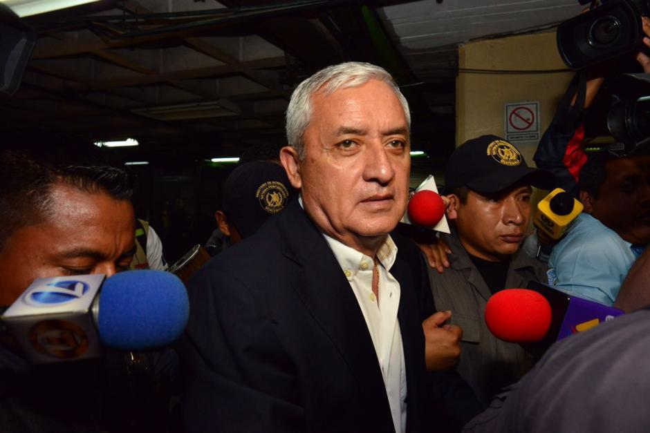 El exmandatario ya se encuentra guardando prisión por otros de corrupción en los que se le sindica. (Foto: Jesús Alfonso/Soy502)