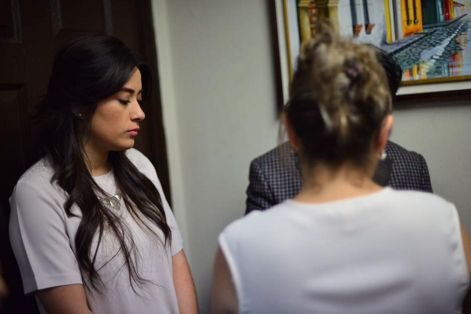 Estrada dijo que su hija solo mandó los correos que ella le pidió, que no tiene culpa de nada. (Foto: Jesús Alfonso/Soy502)