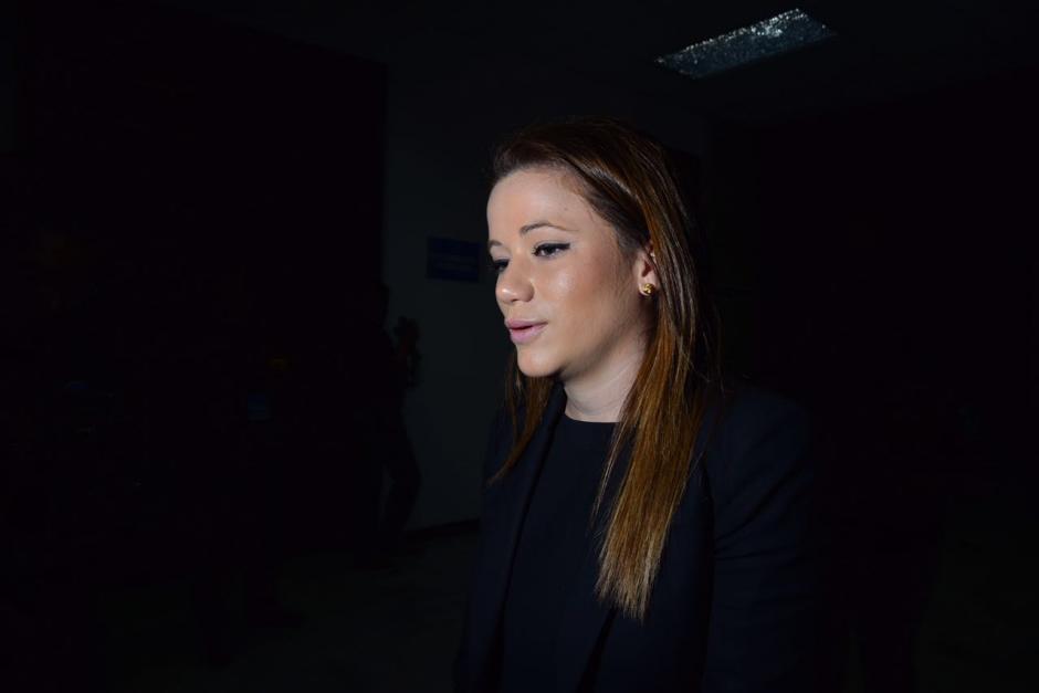 La exdiputada y exasistente de Baldetti, Daniela Beltranena, en su llegada a la continuación de la audiencia.  (Foto: Jesús Alfonso/Soy502)