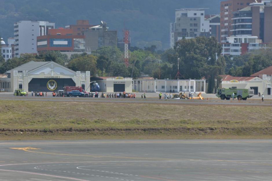 Los vuelos fueron desviados a El Salvador. (Foto: Wilder López/Soy502)