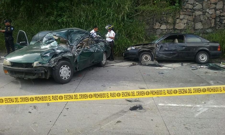 El accidente se reportó en el kilómetro 34.5 de la ruta al Pacífico. (Foto: Facebook/Pampichi News Amatitlan)