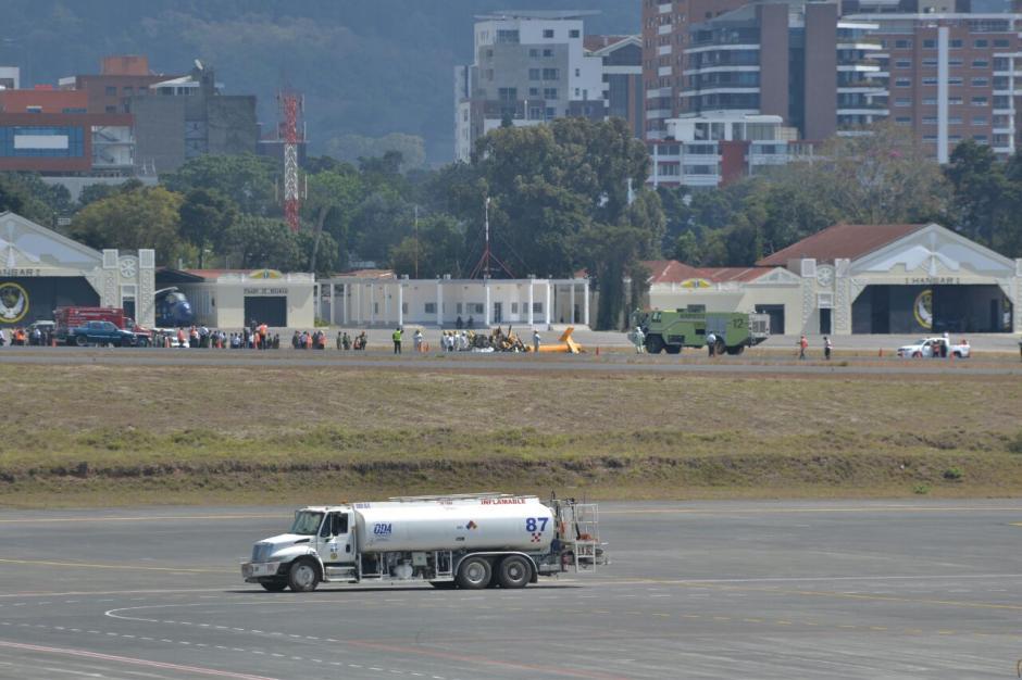 El accidente provocó la suspensión de actividades aéreas. (Foto: Wilder López/Soy502)