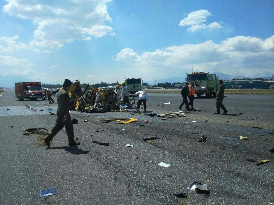 Según Bomberos Municipales, las víctimas eran los tripulantes del helicóptero. (Foto: Emisoras Unidas)