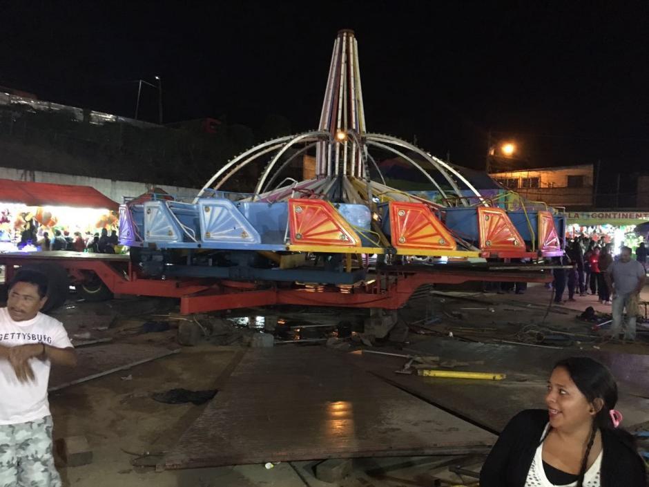 """El juego es conocido como el """"platillo"""" y aparentemente sufrió desperfectos mecánicos. (Foto: Municipalidad de Mixco)"""