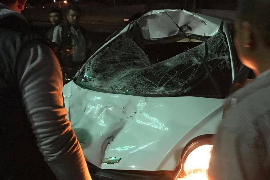 Así quedó el carro luego del accidente. (Foto: Pampichi News)