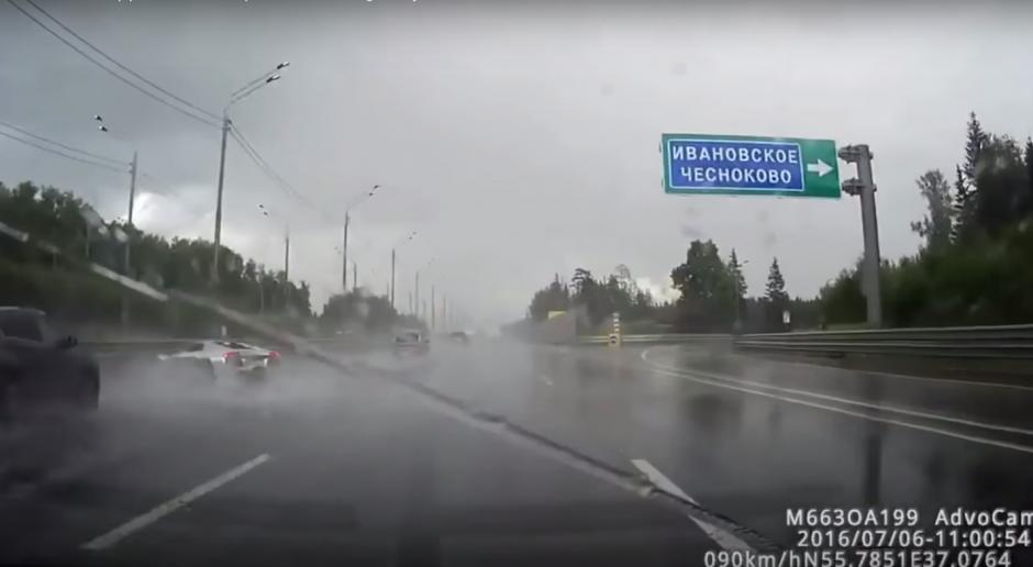 El accidente tuvo lugar en Moscú. (Imagen: Captura de YouTube)