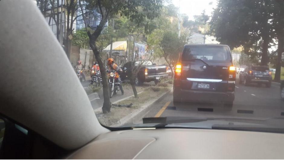 En ambos accidentes no se reportaron personas heridas. (Foto: Twitter/@elcalito)