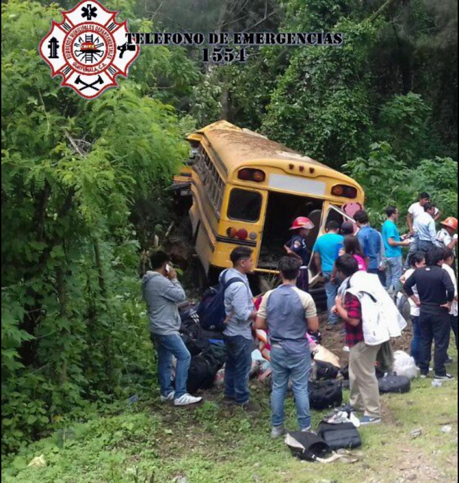 El accidente tuvo lugar en la cuesta Las Cañas. (Foto: Twitter/@CBMDEPTAL)
