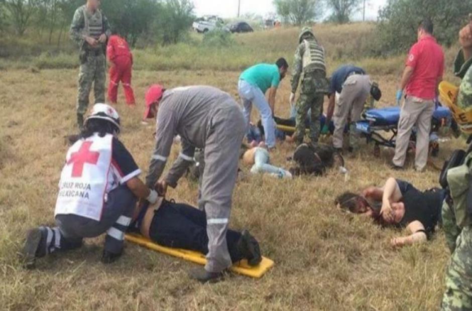 Cinco migrantes murieron en un accidente de tránsito en Tamaulipas, México. (Foto: muropolitico.mx)
