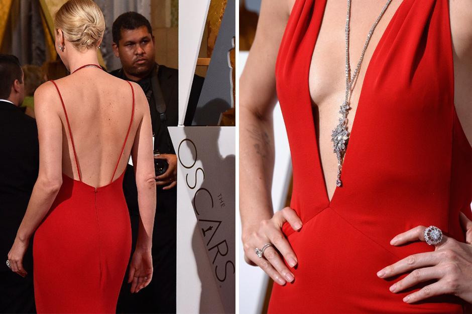 La sudafricana sorprendió al llevar el accesorio que probablemente fue el más caro de la gala. (Foto: AFP)