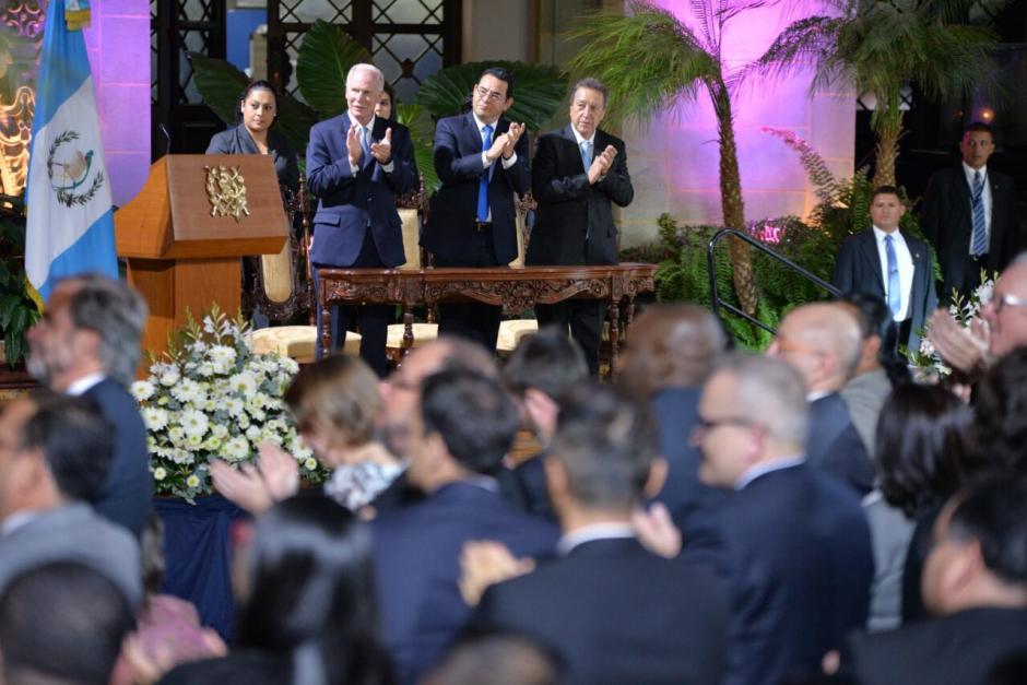 La conmemoración de los 20 años de la firma de los Acuerdos de Paz fue en Palacio Nacional. (Foto: Wilder López/Soy502)