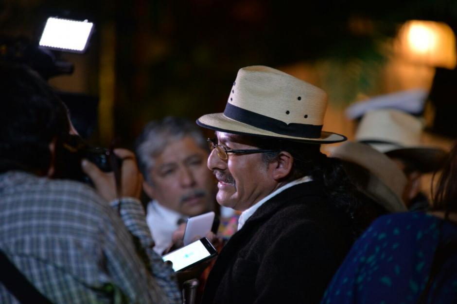 El Consejo Nacional de Autoridades Mayas se quedó sin lugar en el evento. (Foto: Wilder López/Soy502)