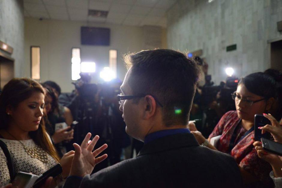 El jefe de la FECI, Juan Francisco Sandoval ofreció declaraciones a la prensa luego de presentar la acusación. (Foto: Jesús Alfonso/Soy502)