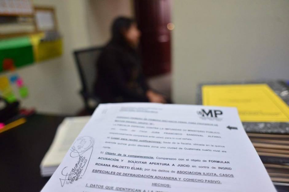 El Ministerio Público (MP) presentó la acusación formal contra Roxana Baldetti donde solicitaron la apertura a juicio por el caso La Línea. (Foto: Jesús Alfonso/Soy502)