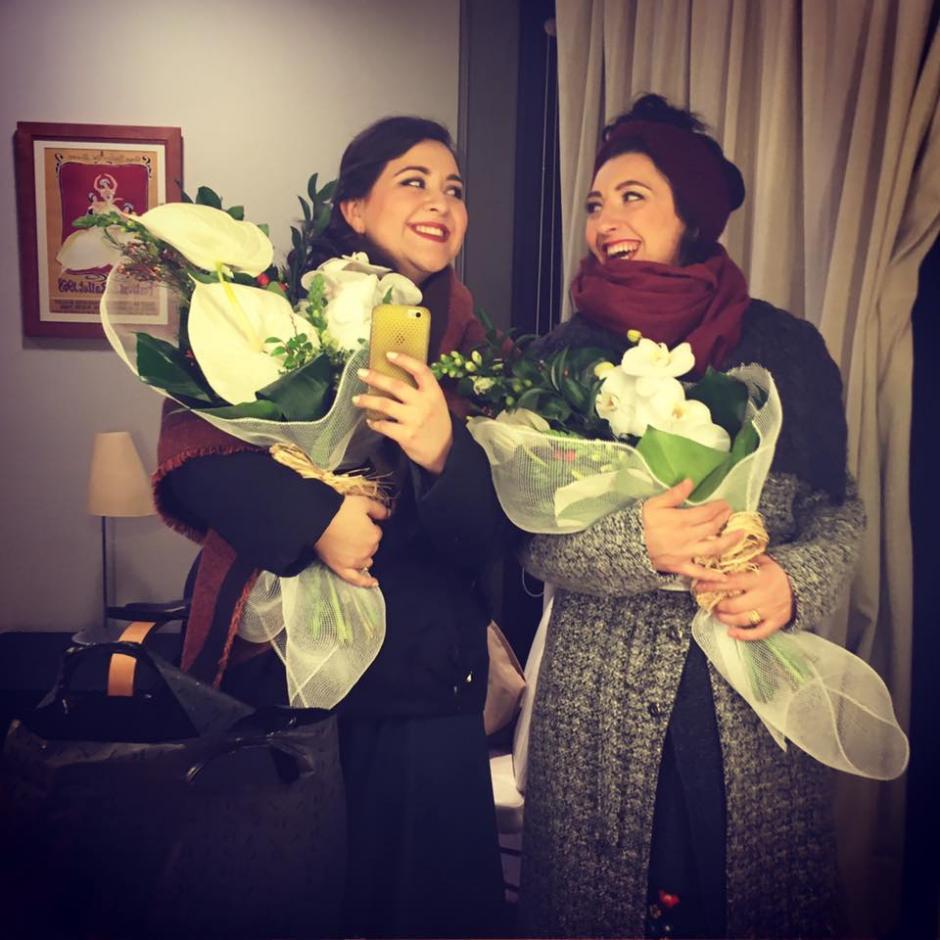 Adriana recibió dos premios importantes en la gala. (Foto: Adriana González)