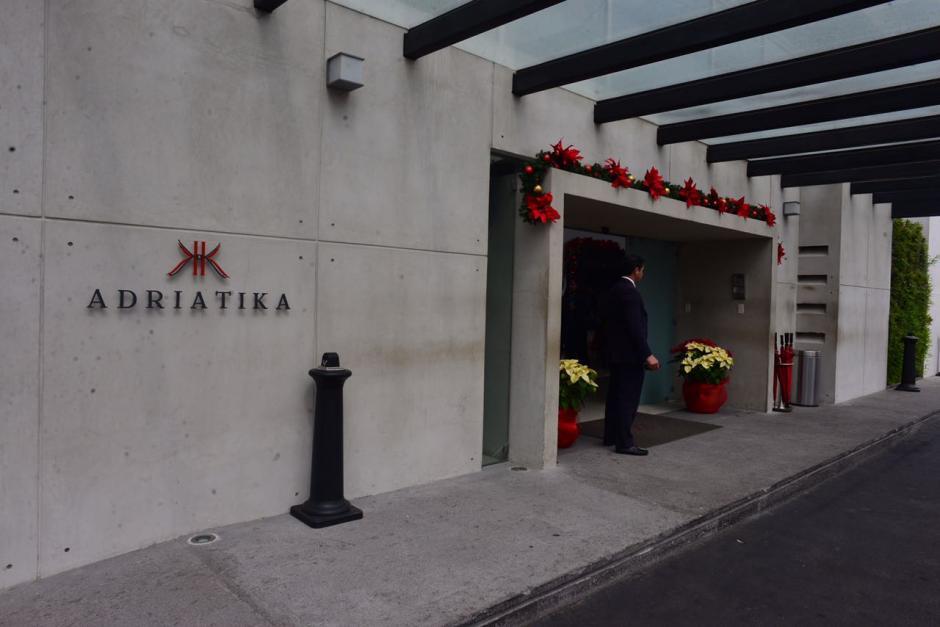 El hotel Adriatika hospedó al Presidente Jimmy Morales durante la campaña. (Foto: Jesús Alfonso/Soy502)