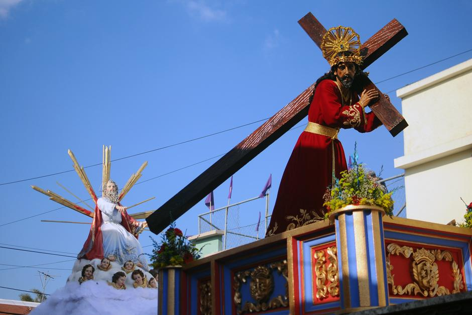 La imagen de Jesús del Rescate que recorrió el Centro Histórico de la ciudad.  (Alejandro Balán / Soy502)