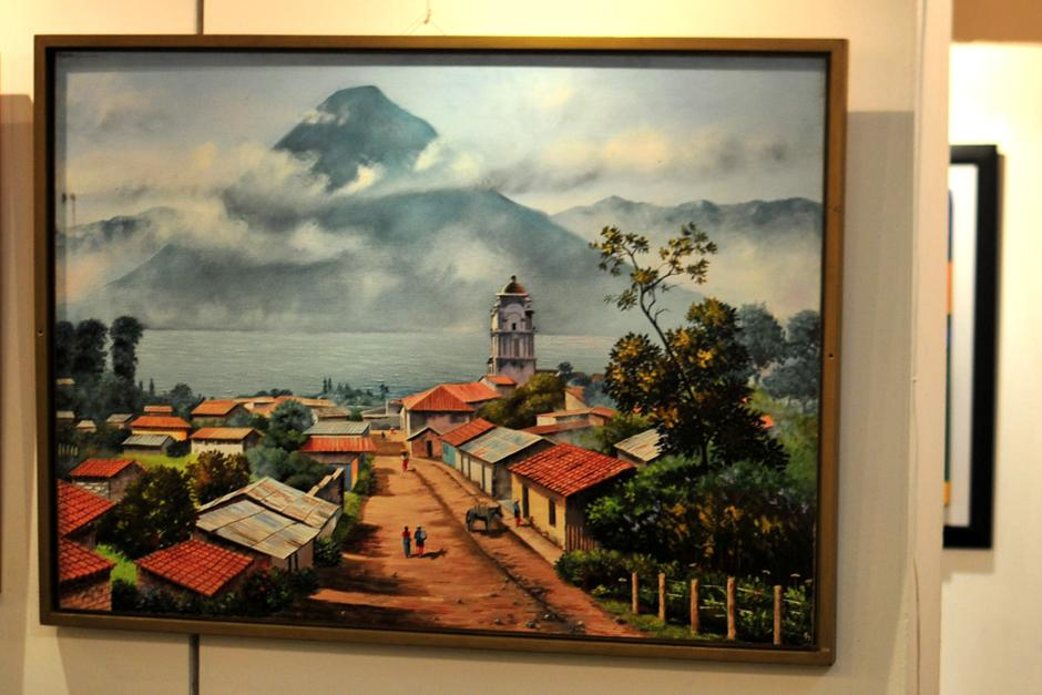 Las obras son creación del pintor Adelso René Ramos. (foto: Alejandro Balán/Soy502)