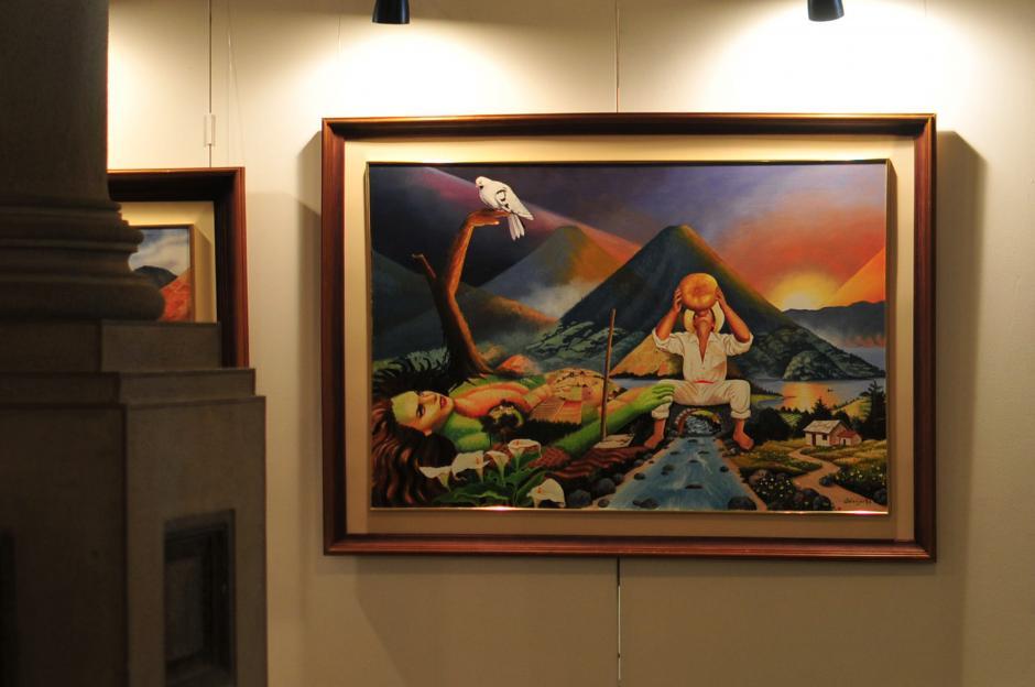 Adelso René Ramos ha sido el pintor exclusivo de la presidencia de Guatemala por más de 30 años. (Foto: Alejandro Balán/soy502)